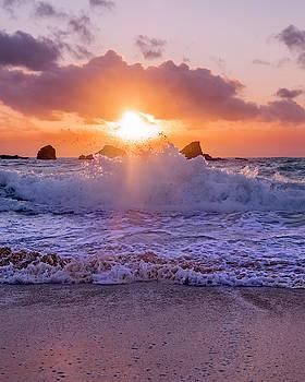 Horseshoe Bay Beach Bermuda Sunrise by Betsy Knapp