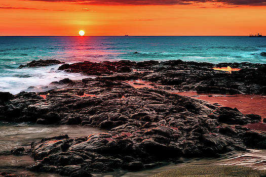 Hot Lava Sunset by John Hight