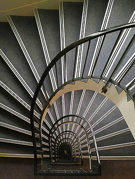 Hotel Stairs by Pat Turner