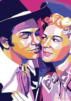 Howard Keel and Betty Hutton by Stars on Art