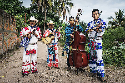 Huicholes Musicians near Tepic in Mexico by Kamran Ali