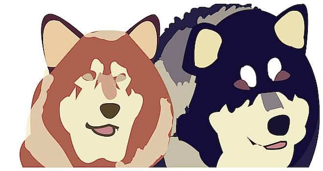 Huskies Commission by Caroline Elgin
