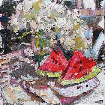 Hydrangea and watermelon by Valerie Lazareva