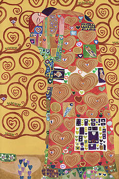 I Heart Klimt The Embrace by Randal Huiskens