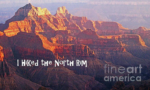 Sharon Williams Eng - I Hiked the North Rim Poster