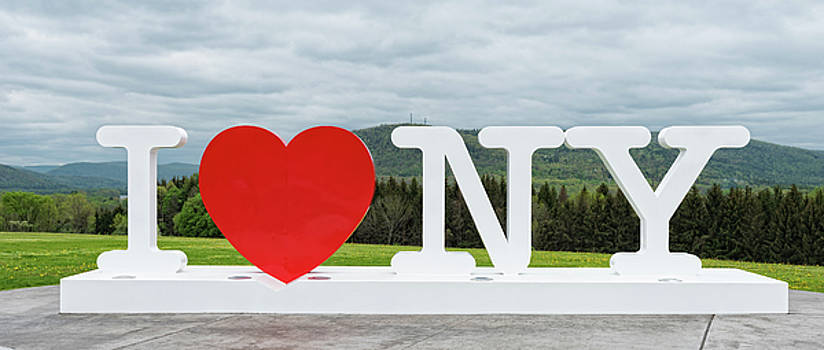 I Love New York Sign by Jim Vallee
