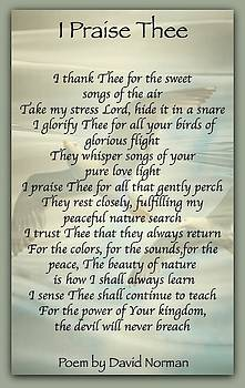 I Praise Thee by David Norman