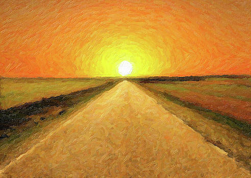 Digital painting of a path to the sun by Vicen Fotografia