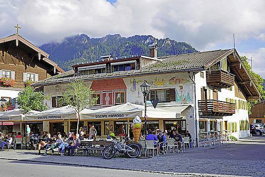 Ice Cream Store In Oberammergau Germany  by Richard Rosenshein