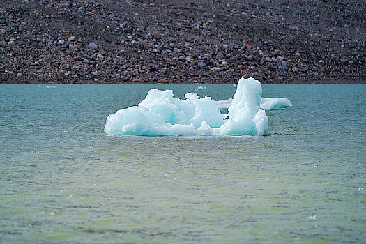 Ice floating near a glacier by Kai Mueller