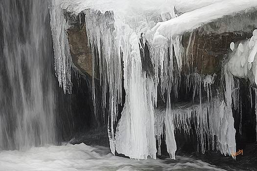 Ice formation up close by Rusty R Smith