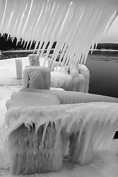 Ice Ice and More Ice B W by David T Wilkinson
