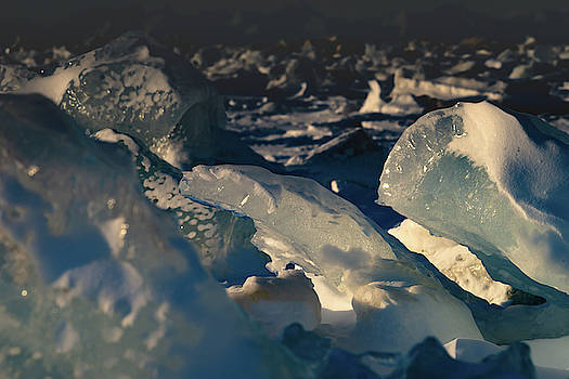 Ice in the sunlight by Kai Mueller