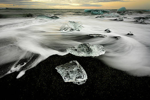 Ice Jewels with Waves in Motion by John Wilkinson
