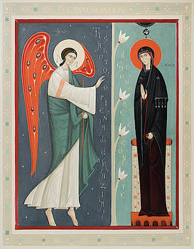 Olga Shalamova - Icon of the Annunciation