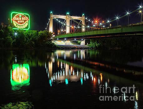 Iconis Grain Belt Beer Sign Minneapolis at Night by Wayne Moran