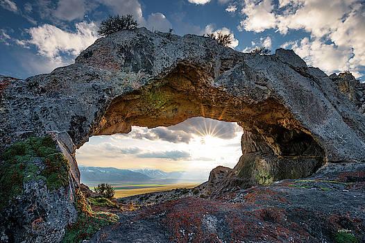 Idaho Natural Arch by Leland D Howard