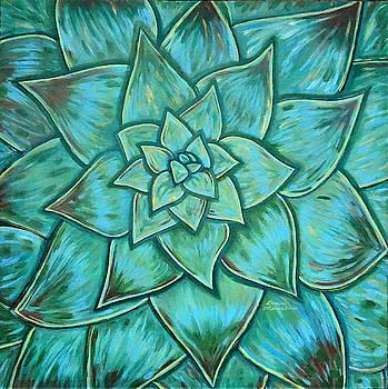 Impressionistic Succulent by Dawn Thibodeaux