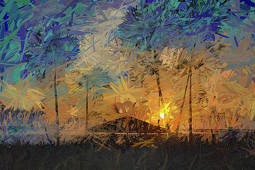 Impressions of a Beach Sunset by Peter Tellone