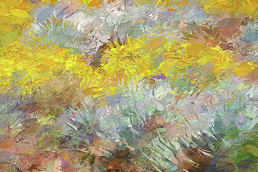 Impressions   Of Agave and Brittlebush by Peter Tellone
