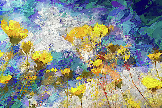 Impressions of Desert Sunflowers by Peter Tellone