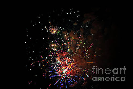 Independence Day Fireworks by Elizabeth Dow