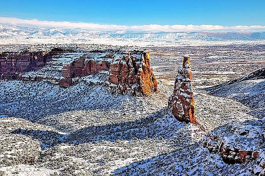 Independence Rock in Winter by Gerald Blaine