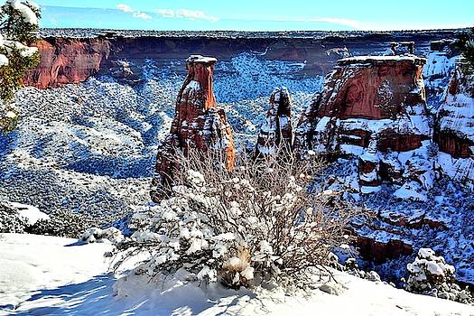 Independence rock in Winter  shot two by Gerald Blaine