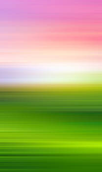 India Colors - Abstract Green and Pink Panorama by Stefano Senise