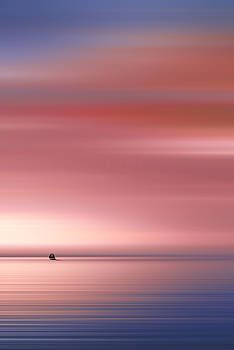 India Colors - Abstract Wide Sunrise and Boat by Stefano Senise