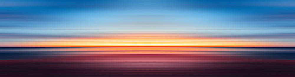 India Colors - Abstract Wide Sunset by Stefano Senise