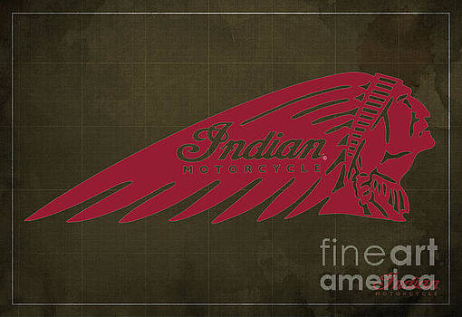 Indian Motorcycle Old Vintage Logo Brown Background by Drawspots Illustrations