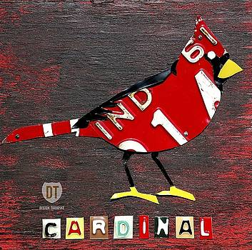 Indiana Cardinal Wall Art by David Bowman