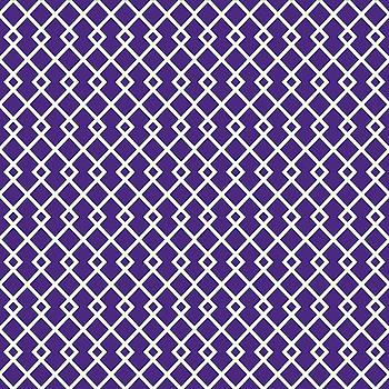 Indigo Purple Diamond Pattern by Ross