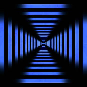 Pelo Blanco Photo - Infinity Tunnel Blue Pixels