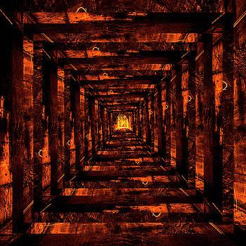 Pelo Blanco Photo - Infinity Tunnel Golden Spinning Sphere