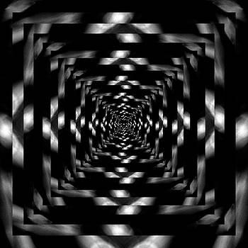 Pelo Blanco Photo - Infinity Tunnel Raindrop Black and White Reflection