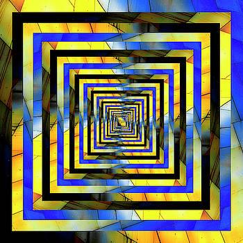 Pelo Blanco Photo - Infinity Tunnel Yellow and Blue Metal
