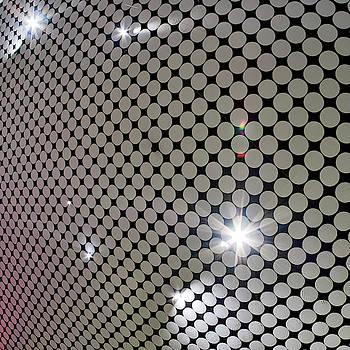 Inner roof and bright lights. Amos Rex Art Museum views by Jouko Lehto