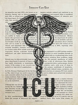 Intensive Care Unit Gift Idea With Caduceus Illustration 01 by Aged Pixel