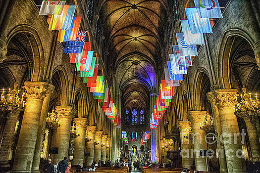 Wayne Moran - Interior Details Cathedrale Notre Dame De Paris France Before Fire