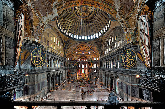 Interior, Hagia Sophia Museum by Ian Robert Knight