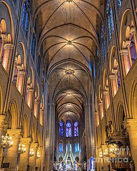 Interior of Notre Dame de Paris by Delphimages Photo Creations