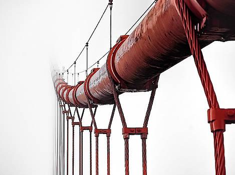 INTERNATIONAL RED MAIN CABLE of GOLDEN GATE BRIDGE - SAN FRANCISCO by Daniel Hagerman