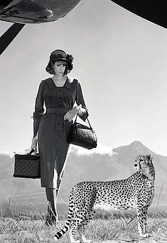 International Roaring 20s sales Woman, her companion, art deco, Flapper by Thomas Pollart