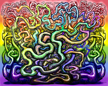 Interwoven Twisted Rainbow Vines by Kevin Middleton