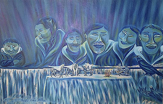 Inuit Family Circle of Life by Claude Edwin Theriault