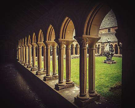 Iona Abbey Cloisters by Ray Devlin