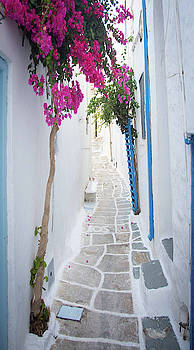 Ios Greece Sidewalks by Colin Collins