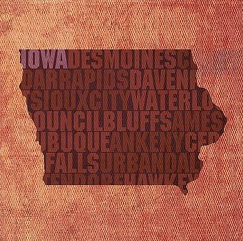 Iowa State Words Wall Art by David Bowman